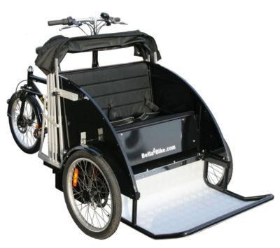En rickshaw cykel taxa fra BellaBike