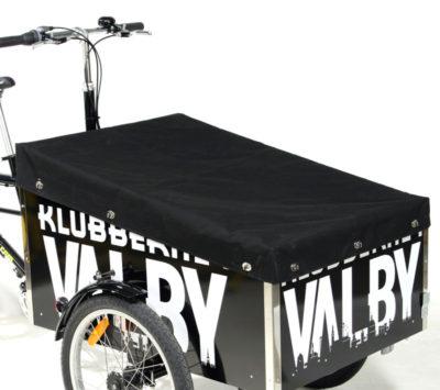 Flad presenning monteret på en ladcykel fra Bella Bike