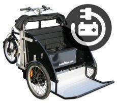 Cykeltaxa rickshaw med elmotor fra BellaBike