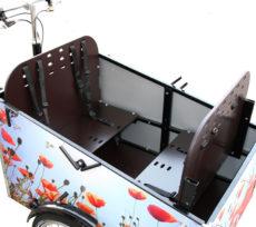 Samlet pakke til din Bellabike ladcykel hvor børnene sidder imod hinanden