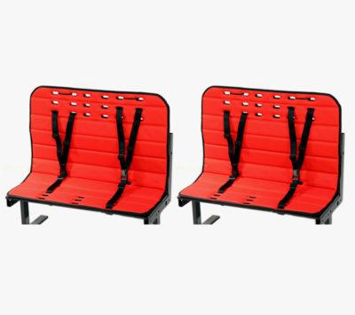 En hynde pakke i rød med 2 bænke til din Bellabike