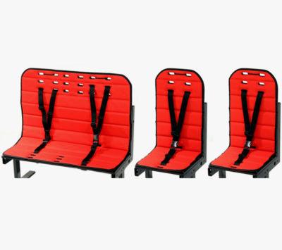 Rød hyndepakke til 1 bænk og 2 stole