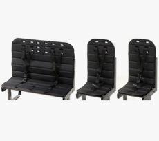Vores sorte hyndepakke beregnet til cyklen med 1 bænk og 2 stole