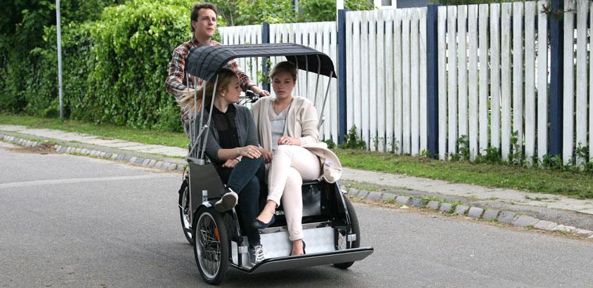 Rickshaw ladcyklen fra BellaBike er også poplær