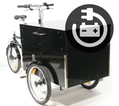 Transportcykel fra BellaBike Cargo el ladcykel med stort bundtræk