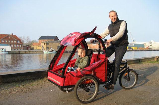 Christel og familien elsker deres super fede BellaBike ladcykel