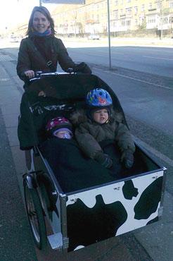Børnene i cyklen elsker også cykelturene