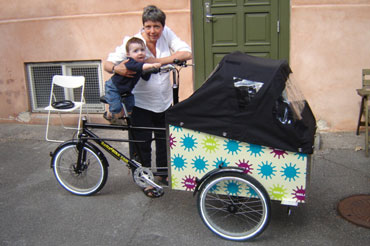 Familien Rosenqvists cykel bringer familien sammen