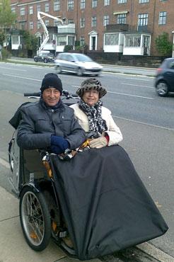 Bellabikes ladcykler kan også bruges som taxaer