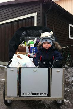 Anton fra Sverige har fået sig en fin ladcykel